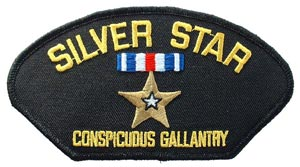 Silver Star Patch For Cap
