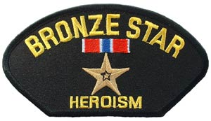 Bronze Star Patch For Cap