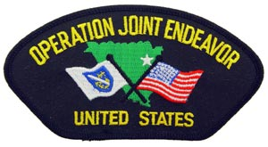 Operation Joint Endeavor Patch For Cap
