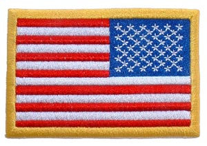 USA Flag Rectangle Gold Right Arm