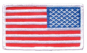 USA Flag Rectangle White Right Arm