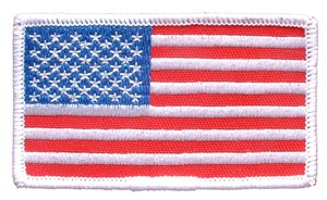 USA Flag Rectangle White Left Arm