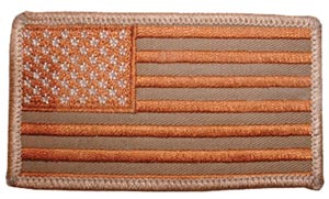 USA Flag Rectangle Desert Left Arm