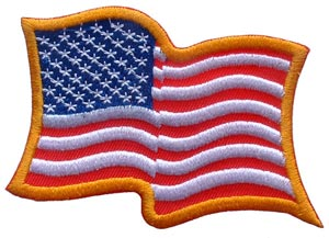 USA Wavy Flag Gold