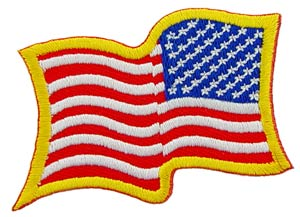 USA Wavy Flag Gold Right Arm