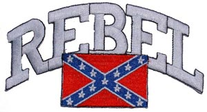 Rebel Flag With Script Patch