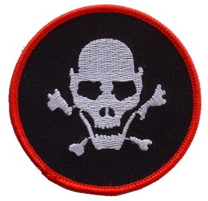 Skull and Bones Round Patch