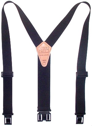 1 1/2 Inch Black Perry Suspenders