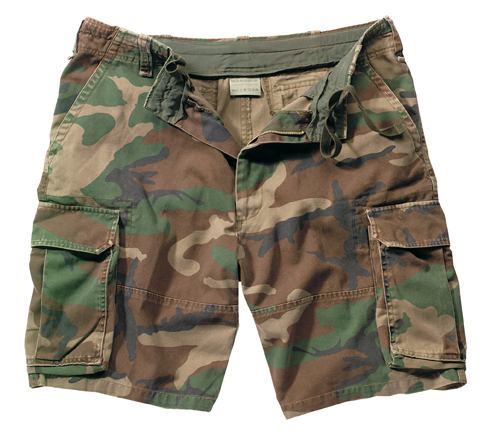 Vintage Woodland Cargo Short Comfortable Fit