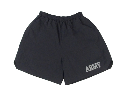 Black Army PT Short W Reflective Letters