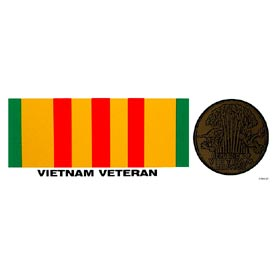 Vietnam Ribbon and Medal Bumper Sticker