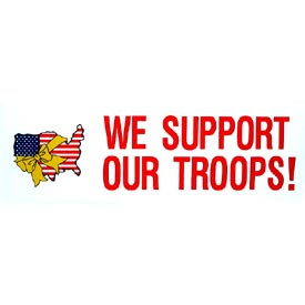 USA We Support Our Troops Bumper Sticker