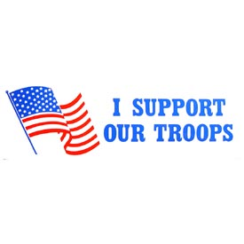 USA I Support Our Troops Bumper Sticker