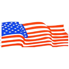USA Wavy Flag Bumper Sticker