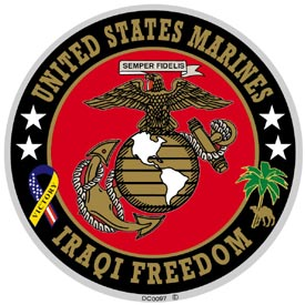 USMC Iraqi Freedom Decal