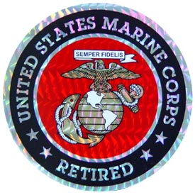 USMC Logo Retired Decal