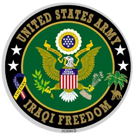Army Iraqi Freedom Decal