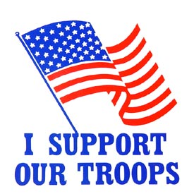 USA Flag I Support Decal