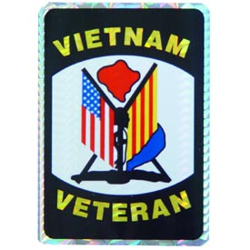 Vietnam Veteran Flags Decal