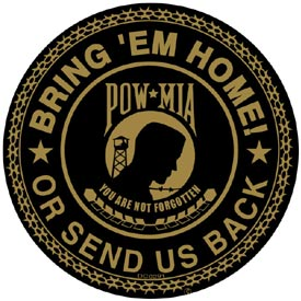 Pow Mia Round Decal
