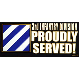 Army 3rd Infantry Bumper Sticker