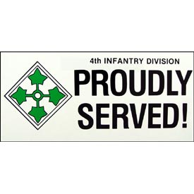 Army 4th Infantry Division Bumper Sticker