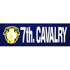 Army 7th Calvary Bumper Sticker