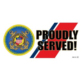 USCG Proudly Served Bumper Sticker