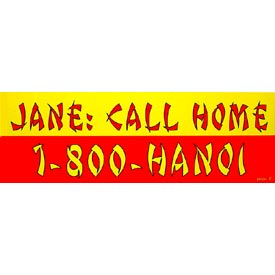 Vietnam Jane Call Bumper Sticker