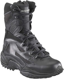 Reebok 8 inch Black Composite Safety Toe Boots w/Zipper