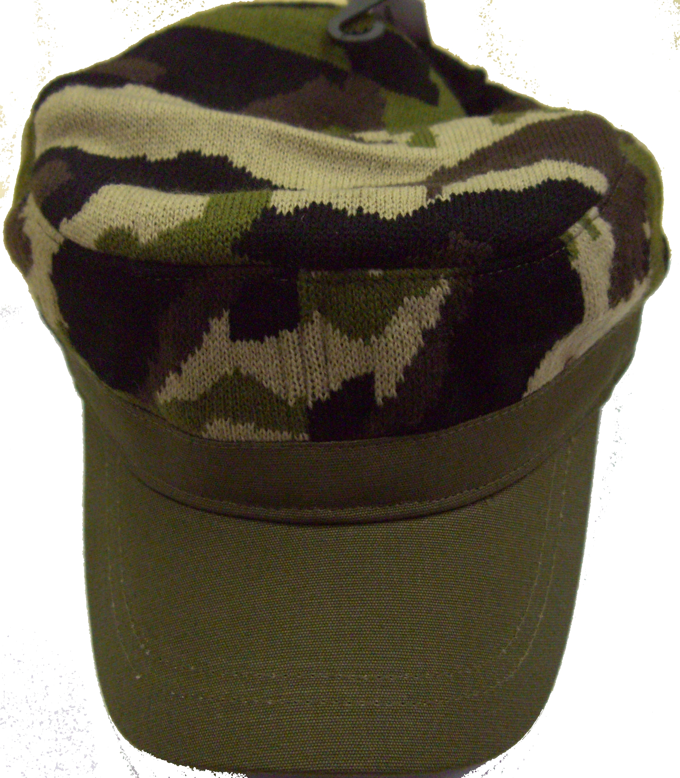 Woodland Camo Knit Cap Adjustable