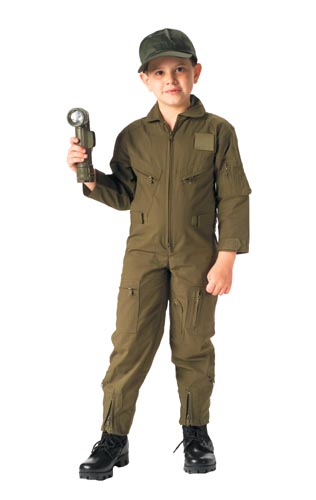 Youth Olive Flight Suit Looks just like the Real Deal