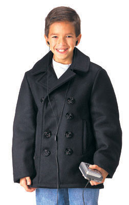 Kids Navy Pea-Coat Just Like the Real Deal