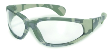Digital Camo Safety Glasses Clear Lenses