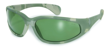Digital Camo Safety Glasses Green Tint Lenses
