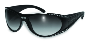Marilyn 1 Black Safety Glasses With Rhinestones