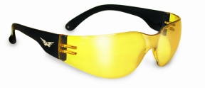 Rider Safety Glasses Yellow Tint Lenses