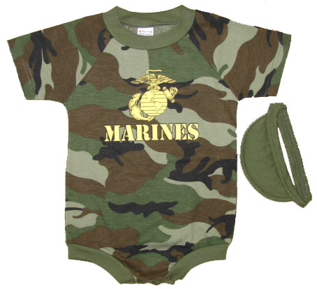 Infant Marines Outfit With Visor