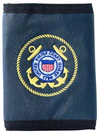 Leather Tri Fold Wallet USCG