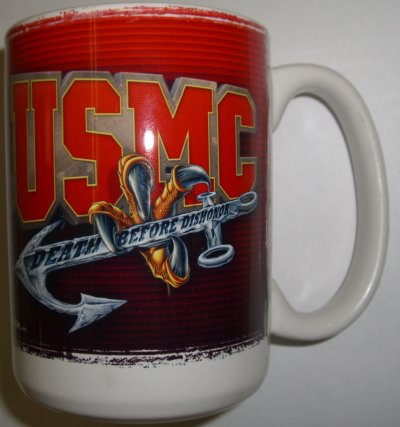 USMC Eagle Claw-Anchor-Death Before Dishonor Mug