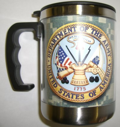 Army Crest -ACU-BG Small Stainless Steel Mug