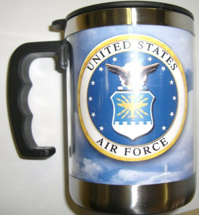 Air Force Crest On Sky Small Stainless Steel Mug