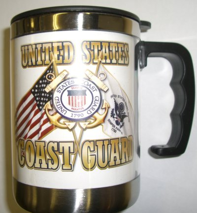 Coast Guard Cross Flags Small Stainless Steel Mugs
