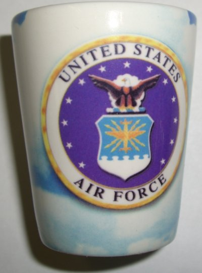 Air Force Crest on Sky Shot Glass