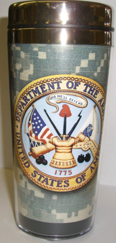 Army Crest ACU Travel Mug