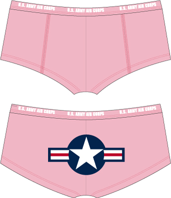 Pink Air Corps Booty Shorts These are too cute