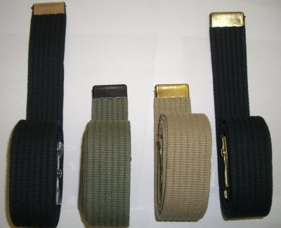 Ribbed 44 Inch Web Belts