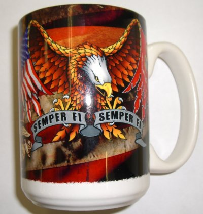 Semper Fi With Eagle Mug