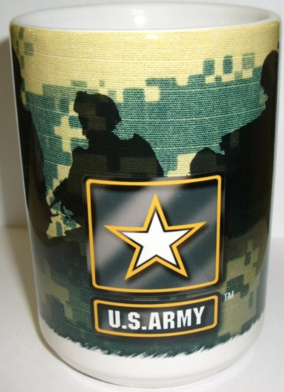Army Logo Army Strong Soldiers on ACU Mug