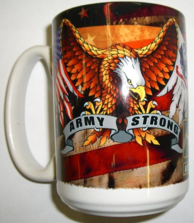 Army Logo Army Strong With Eagle Mug